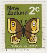 (NZK939) 1970 NZ 2c TUSSOCK butterfly (C)