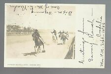 Rawlins WYOMING RP 1906 INDIANS Sioux? HORSE RACE Indian Fair Horses Dixon WY
