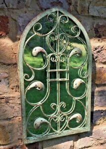 Garden Mirror Green Leaf Garden Ornament Metal Gothic Ornate