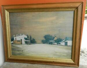 Royal Hotel Bungendore New South Wales Painting Signed by Artist Rex Newell 1978