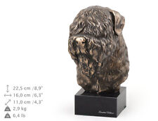 Black Russian Terrier, dog bust marble statue, ArtDog Limited Edition, Usa