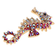 Pin Red Crystal Rhinestone Jewelry Vintage Animals Large Brooch Lapel