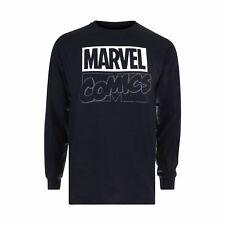Mens Marvel Contrast Logo Long Sleeve Tshirt 2xl