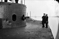 New 5x7 Civil War Photo: Deck & Turret of USS MONITOR on the James River, 1862