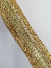 Gold metallic braid trimming ,1.5 inch wide ,sold by yard