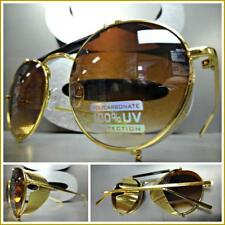 Steampunk Cyber Vintage RETRO Blinder Style SUN GLASSES Unique Round Gold Frame