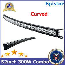 52inch 300W CURVED LED Light Bar Flood+Spot Beam fit Toyota RZR Roof Ranger Slim