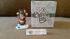 """Charming Tails """"Are The Earrings Too Much"""" Fitz Floyd 98/215 Mouse Figurine Mib"""