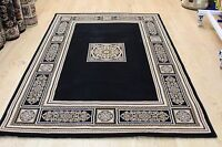 Traditional Design Rugs Black Gold High Quality Living Room Carpet Rugs Mats Uk