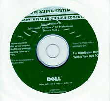 Dell Windows XP Professional full version Service Pack SP2 Reinstall CD disc NEW