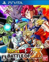 USED PS Vita Dragonball Z Battle of Z game soft Japan import