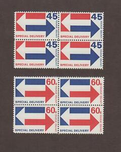 US,E22,E23,BLOCKS OF 4,MNH,VF-XF,SPECIAL DELIVERY, COLLECTION