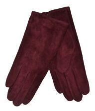 Dents Ladies Emily Suede Gloves. Black Navy Red Tan Mocca Thistle Pink 7-2317 Claret M