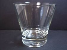 Crown Royal tapered whiskey sipping glass embossed crown pillow logo base 6 oz