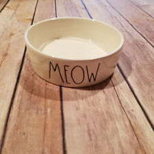 "Rae Dunn ""MEOW"" Cat Food Water Bowl Artisan Collection by Magenta Pottery Farmho"
