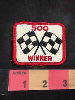 Vintage Checkered Flag Car Race Themed Patch 500 Winner 80NT