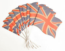 Faded Union Jack paper handwaving flags - VE Day