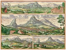 Peña de los Enamorados Archidona Málaga Spain bird's-eye view Hogenberg ca.1598
