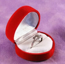 Flocked Velour Ring Gift Boxes Lot Of 12