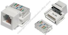 Lot10 Keystone RJ11/RJ12 tooless Jack Phone/Telephone for 6/4wire 6P6C/4C{WHITE