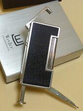 WIN JET Pipes Briquet - Allumage par friction - black (noir) paillettes 22202A