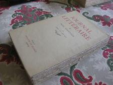 1958 Journal Littéraire Paul Léautaud Vol 5 Janv 1925-juin 1927 Bibliophilie EO