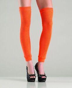 BW-711 Sexy Gogo Dancer Raver Outfit Rave Clubwear Orange Thigh High Leg Warmers