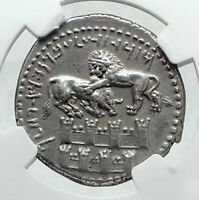 TARSOS in CILICIA 361BC Silver Stater WALLS OF JERUSALEM Greek Coin NGC i81139
