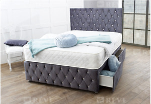 Plush Luxury Orthopedic Divan bed set 3ft single - 4ft6 double - 5ft kingsize