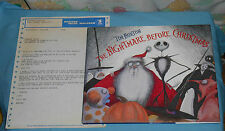 THE NIGHTMARE BEFORE CHRISTMAS book owned by Vincent Price & Tim Burton telegram