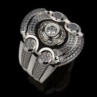 Fashion 925 Silver Wedding Rings Women Jewelry White Sapphire Ring Gift Sz 8-13