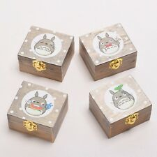 Anime My Neighbor Totoro Spiral Spring Wooden Music Box Vintage Music Box