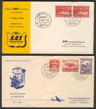 FFC N32 Copenhagen - Kuala Lumpur 1958 SAS to Malaya / Copenhagen - Jakarta