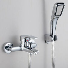 For bathroom brass hot&cold water tap mixer faucet and shower head wall mounted