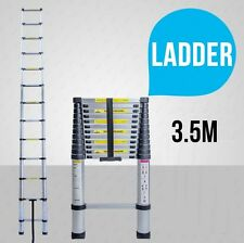 NEW 3.5M Alloy Telescopic Aluminium Ladder Alloy Extension Extendable Multi