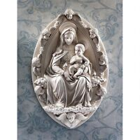 Madonna And Child Design Toscano Exclusive Replica Wall Sculpture By Rossellino