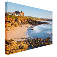 Fistral Beach Newquay Cornwall UK Canvas Wall Art Picture Print