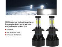 2x LED H7 Phare CREE 200W 6000K Ampoules Voiture Kit Feux Anti Lampe Xénon Blanc