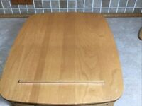 "Longaberger 2000 Paper Tray Basket, Wood Lid & Protecter 14 1/2""x 12 1/2"" #"
