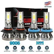 Mini 9005 + H11 Combo LED Headlight Kit 3000W 450000LM Hi/Lo Beam Fog Bulb 6000K