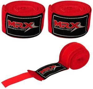 "Hand Wraps Boxing 180"" Wrist Bandages Fist Inner Gloves UFC, MMA, Muay Thai PAIR"