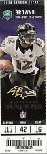 2013 BALTIMORE RAVENS VS CLEVELAND BROWNS TICKET STUB 9/15/13 JACOBY JONES