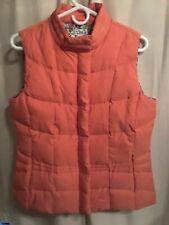LILLY PULITZER Orange Goose Down Vest Womens Size M