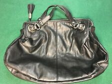 EXPRESS LEATHER PURSE/HAND BAG - Black - 3 pockets inside 1 of them zips - Nice!