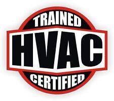 HVAC Trained Certified Hard Hat Stickers | Helmet Decals Plumbing A/C Heating