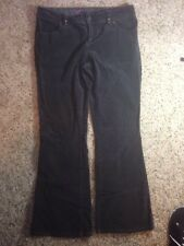 Womens Size 10 High Sierra 2% Stretch Mid-Rise Gray Flare Jeans Ked
