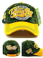 2691aaecbd8 Green Bay New Leader Cheese Head Vintage Packers Green Gold Dad Era Hat Cap