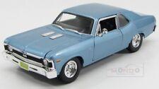 Chevrolet Nova Ss Coupe 2-Door 1970 Light Blue Maisto 1:18 MI31132LB
