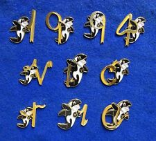 Collection 10 Different Orca Killer Whale Dolphin Klee Wyck Letters Lapel Pins