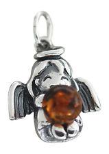 Schutzengel - Anhänger Engel in Silber 925 mit Bernstein - Silberanhänger Engel
